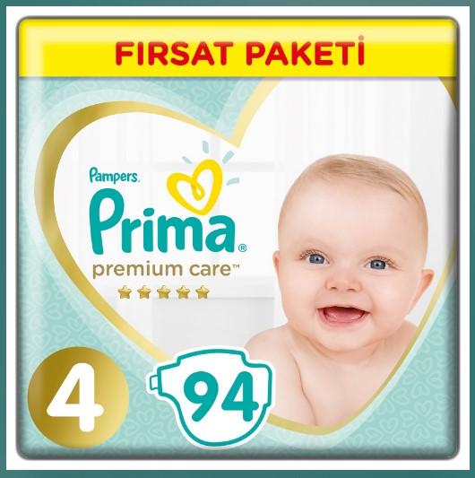 Prima - Prima Bebek Bezi Premium Care 4 Beden Maxi Fırsat Paketi 9-14 kg 94 Adet