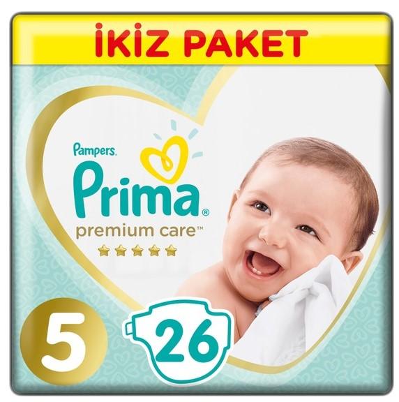 Prima - Prima Bebek Bezi Premium Care 5 Beden Junior İkiz Paket 26 Adet