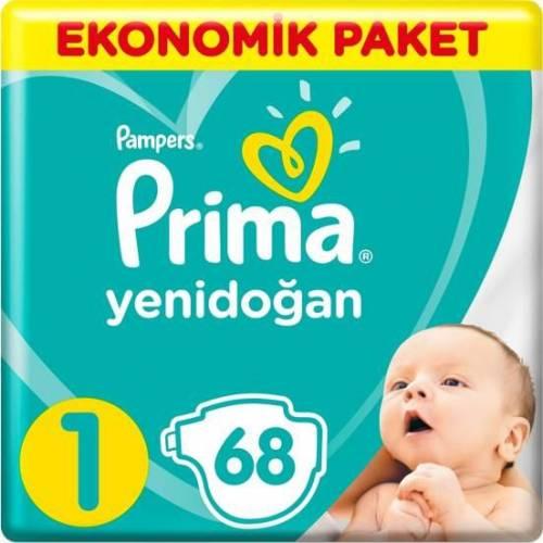 Prima - Prima Bebek Bezi Yeni Bebek 1 Beden Yenidoğan Ekonomik Paket 2-5kg 68 Adet