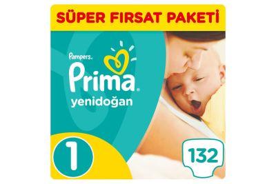 Prima - Prima Bebek Bezi Yeni Bebek 1 Beden Yenidoğan Süper Fırsat Paketi 132 Adet