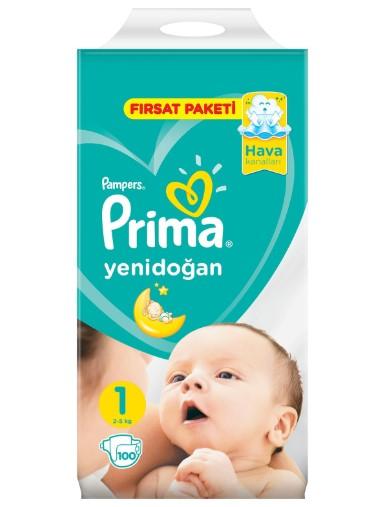 Prima - Prima Bebek Bezi Yeni Bebek 1 Beden Yenidoğan Fırsat Paketi 2-5kg 100 Adet