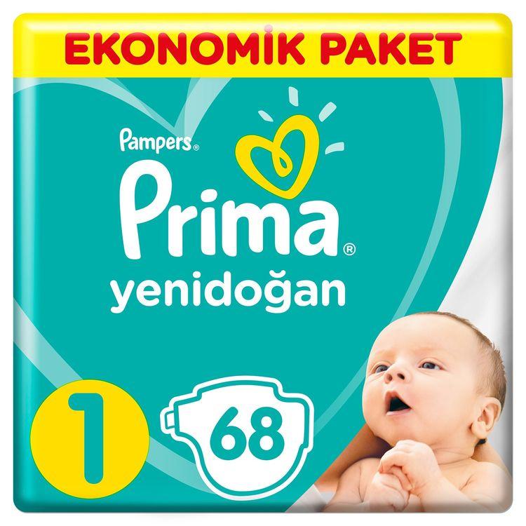 Prima - Prima Bebek Bezi Yeni Bebek 1 Beden Yenidoğan Ekonomik Paket 68 adet