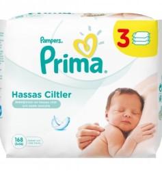 Prima - Prima Islak Havlu Hassas Ciltler İçin 3'lü Fırsat Paketi 168 Yaprak
