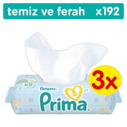 Prima - Prima Islak Havlu Temiz ve Ferah 3'lü Fırsat Paketi 192 Yaprak