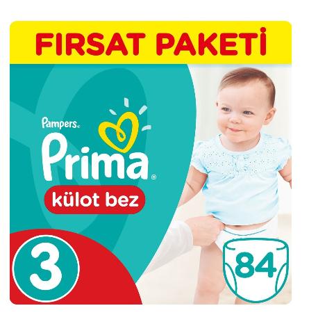 Prima - Prima Külot Bebek Bezi 3 Beden Midi Fırsat Paketi 84 Adet