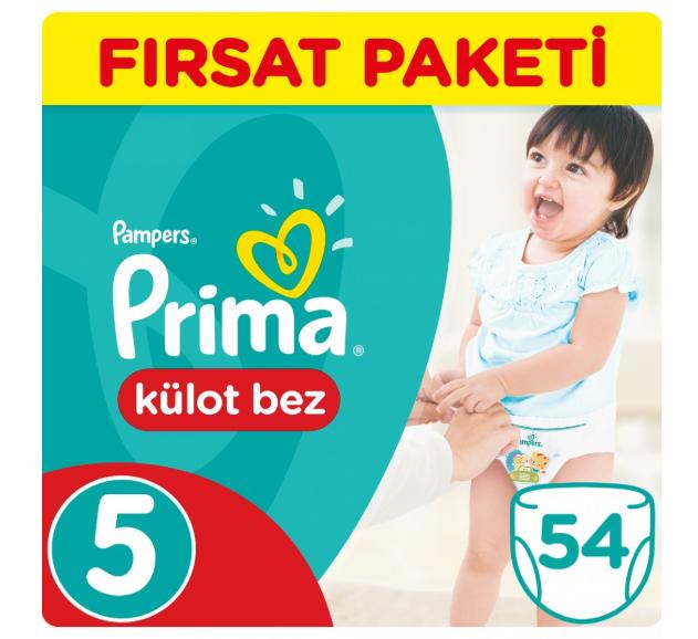 Prima - Prima Külot Bebek Bezi 5 Beden Junior Fırsat Paketi 54 Adet