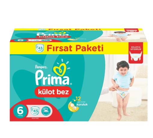 Prima - Prima Külot Bebek Bezi 6 Beden Ekstra Large Fırsat Paketi 45 Adet