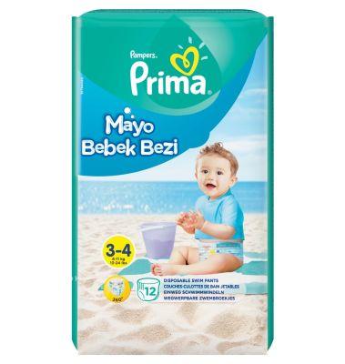 Prima - Prima Mayo Bebek Bezi 3 Beden Midi Tekli Paket 12 Adet