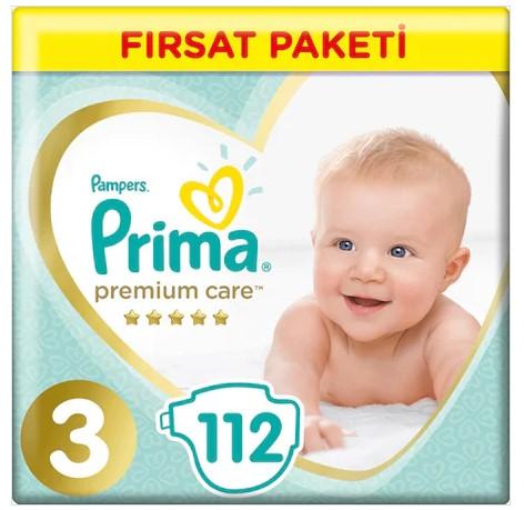 Prima - Prima Premium Care 3 Beden 112li Bebek Bezi Yeni Avantajlı Paket