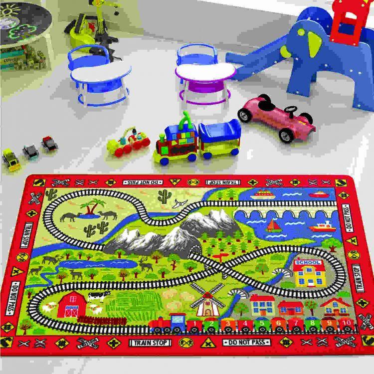 Confetti - Confetti Railway 100x150 Kırmızı Bukle