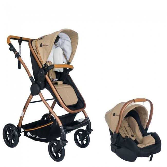Safe Line - Safe Line Donna Travel Sistem Bebek Arabası Kahve