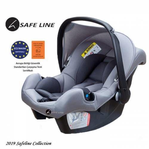 Safe Line - Safe Line Moon 0-13 Kg Ana Kucağı Gri Silver