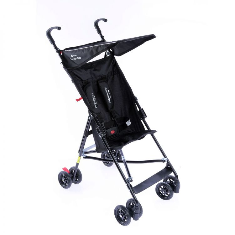 Safe Line - Safe Line Pocket City Baston Bebek Arabası Siyah