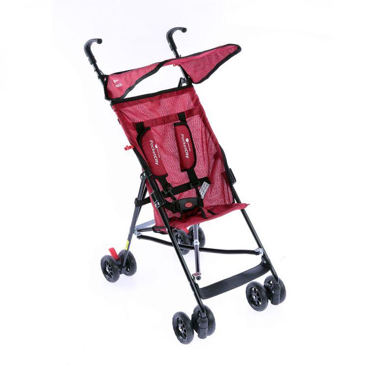 Safe Line - Safe Line Pocket City Baston Bebek Arabası Kırmızı