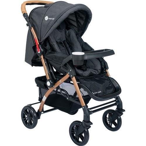 Safe Line - Safe Line Quest Gold Kaplama Çift Yönlü Bebek Arabası Siyah