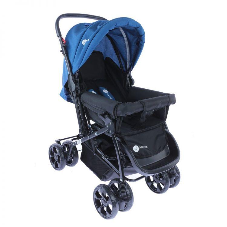 Safe Line - Safe Line Quick Step Çift Yönlü Bebek Arabası Mavi