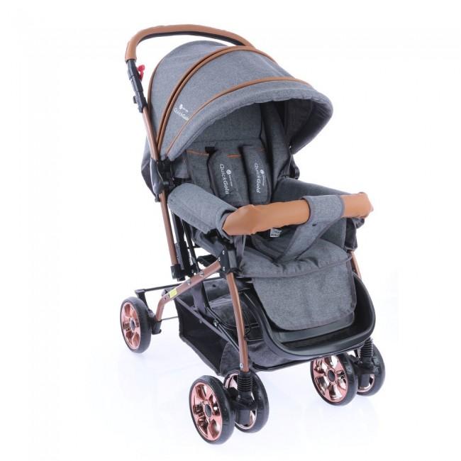 Safe Line - Safe Line Quickgold Çift Yönlü Bebek Arabası Gri