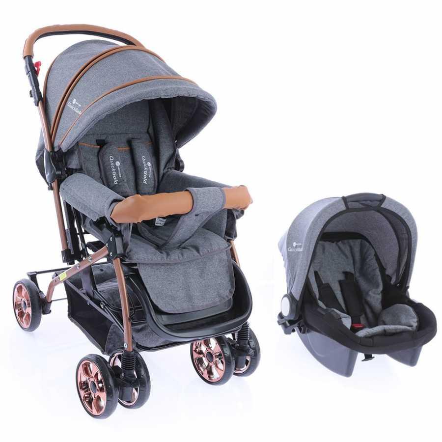 Safe Line Quickgold Çift Yönlü Travel Sistem Bebek Arabası Gri