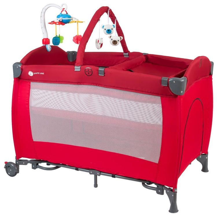 Safe Line - Safe Lİne Sleep Oyun Parkı 70x110 Kırmızı