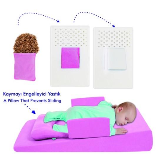 Sevi Bebe - Sevi Bebe Bebek Reflü Yatağı Pembe