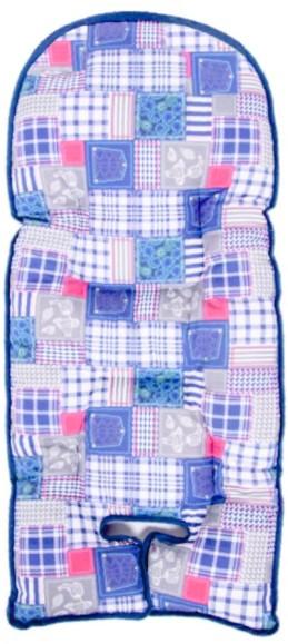Sevi Bebe - Sevi Bebe Mama Sandalyesi Minderi Yama Desenli