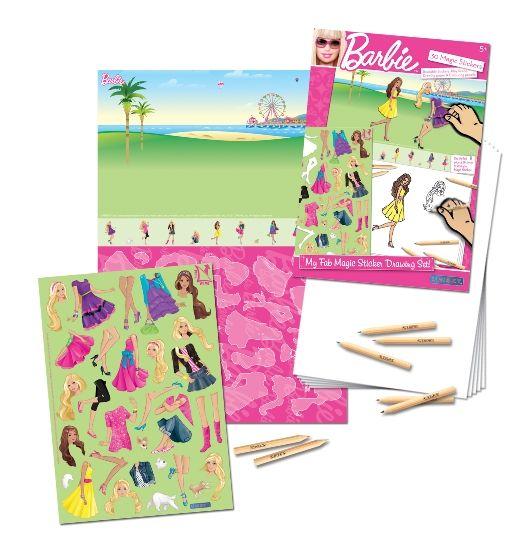 Uniset - Sihirli Çıkartma Birleştir-Çiz-Boya - Barbie