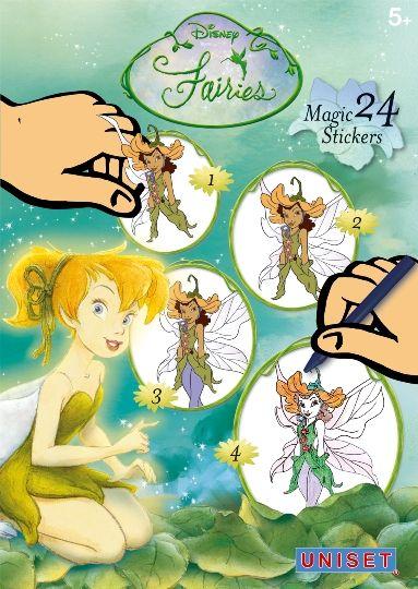 Uniset - Melissa & Doug Sihirli Çıkartma Birleştir -Çiz-Boya -Disney Fairies