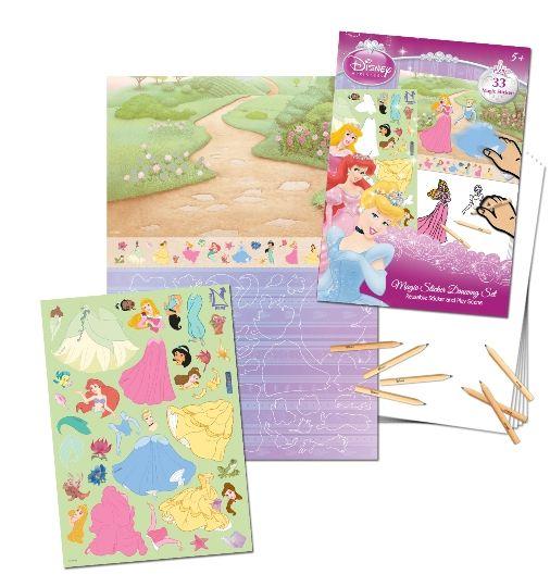 Uniset - Sihirli Çıkartma Birleştir-Çiz-Boya - Disney Princess