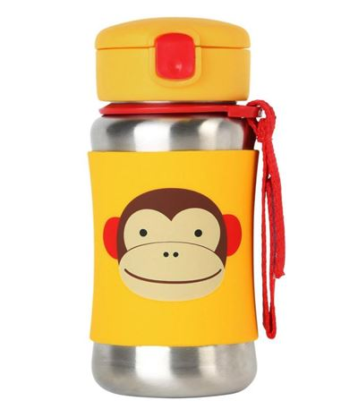 Skip Hop - Skip Hop Pipetli Paslanmaz Çelik Suluk Maymun