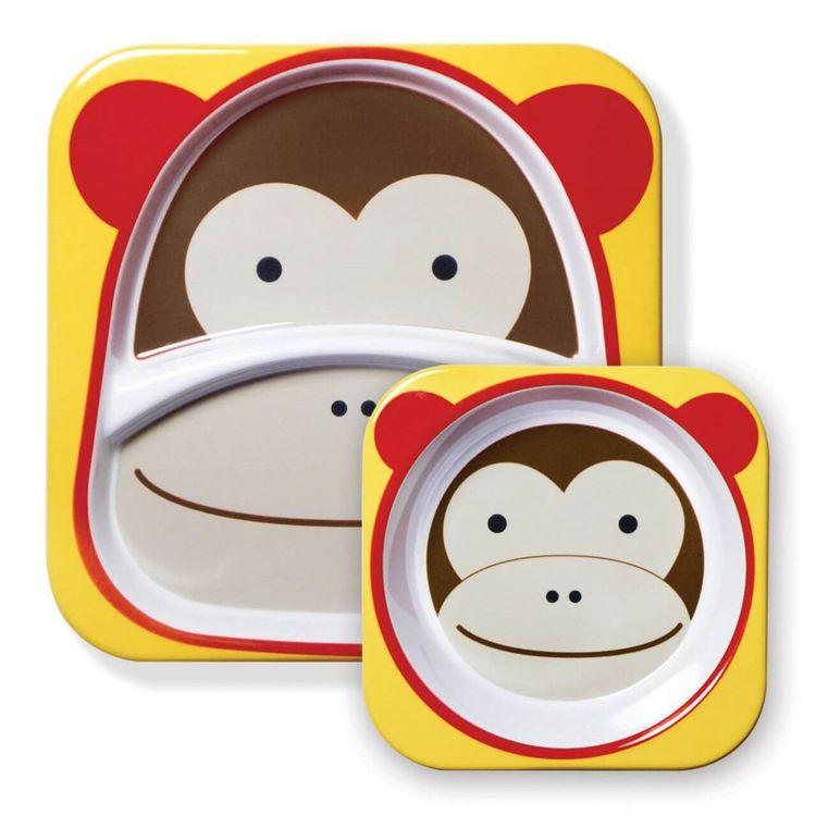 Skip Hop - Skip Hop Tabak ve Kase Hediye Seti Maymun