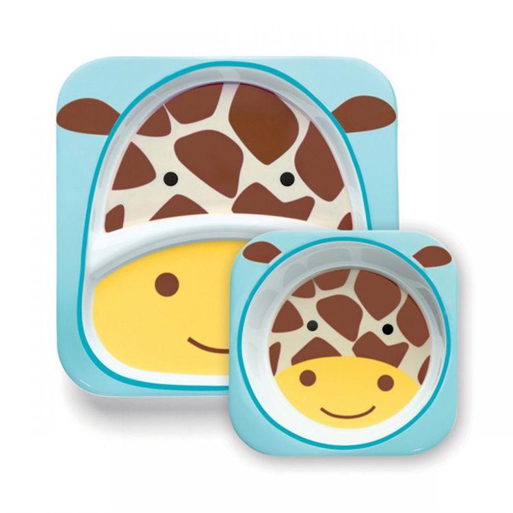 Skip Hop - Skip Hop Tabak ve Kase Hediye Seti Zürafa