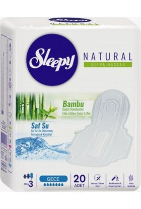 Sleepy - Sleepy Natural Ultra Hassas Gece Ped 20li
