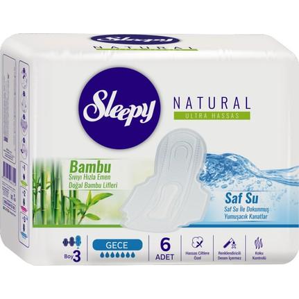 Sleepy - Sleepy Natural Ultra Hassas Hijyenik Ped Gece (6 Adet)