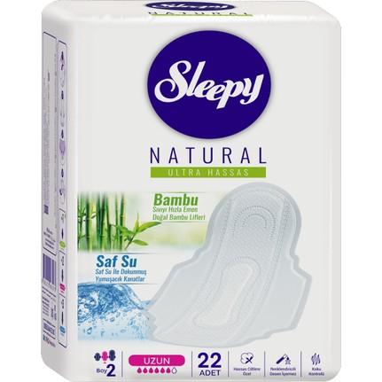 346 - Sleepy Natural Ultra Hassas Hijyenik Uzun 22li Ped