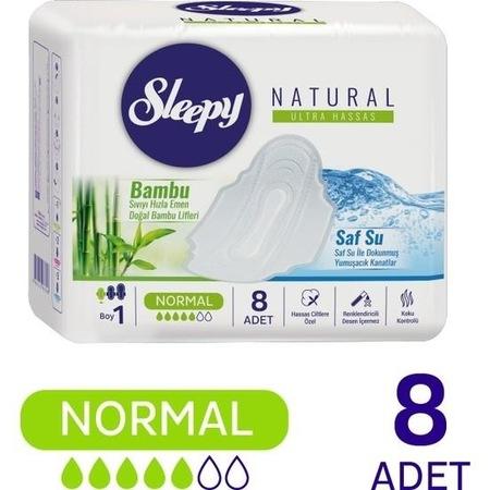 Sleepy - Sleepy Natural Ultra Hassas Hijyenik Ped Normal (8 Adet)