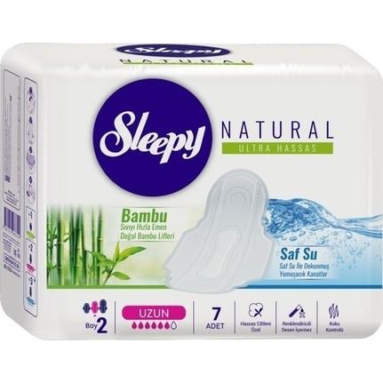 Sleepy - Sleepy Natural Ultra Hassas Hijyenik Ped Uzun (7 Adet)