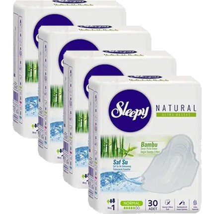 Sleepy - Sleepy Natural Ultra Hassas Hijyenik Ped Normal 30'lu 4'lü Set