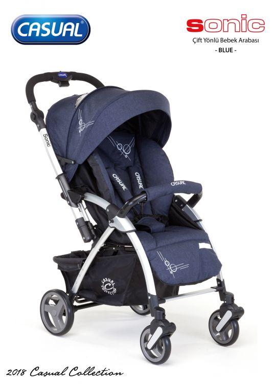Casual - Sonic Çift Yönlü Bebek Arabası-Blue
