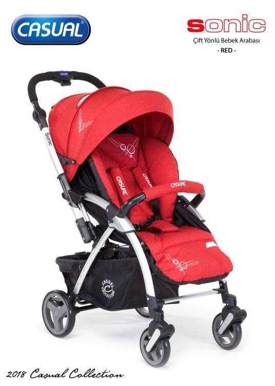 Casual - Sonic Çift Yönlü Bebek Arabası - Red