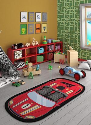 Confetti - Confetti Speed Racer 100x200 Kırmızı Bukle