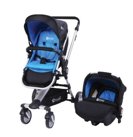 Star Baby - Star Baby Bird Çift Yönlü Travel Sistem Bebek Arabası Mavi