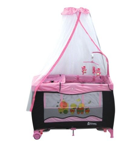 Star Baby - Star Baby Grow 76x110 Oyun Parkı Pembe