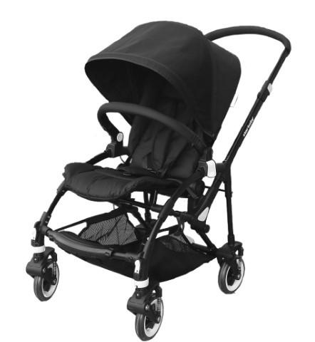 Star Baby - Star Baby Piero Çift Yönlü Bebek Arabası Siyah