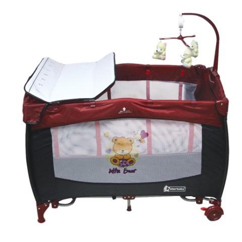 Star Baby - Star Baby Prevalent 76x110 Oyun Parkı Bordo