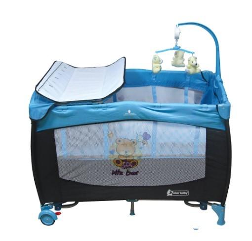 Star Baby - Star Baby Prevalent 76x110 Oyun Parkı Mavi