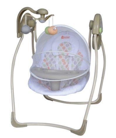 Star Baby - Star Baby Violet Elektrikli Bebek Salıncak Krem