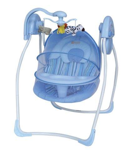 Star Baby - Star Baby Violet Elektrikli Bebek Salıncak Mavi