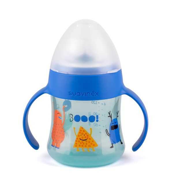 Suavinex - Suavinex Damla Akıtmaz Kulplu Bardak Booo - 150 ml ( 4+ ay) Mavi