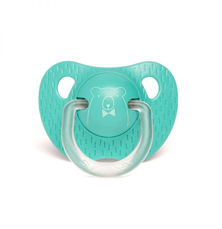 Suavinex - Suavinex Evolution Silikon Ortodontik Emzik (+18 ay) Bear Yeşil