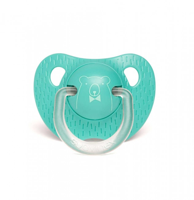 Suavinex - Suavinex Evolution Silikon Ortodontik Emzik (+6 ay) Bear Yeşil